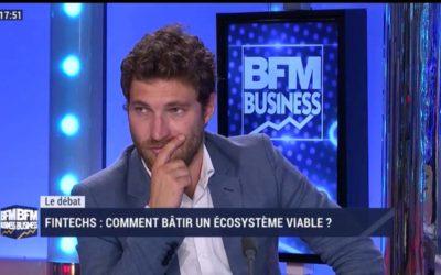 Débat TV sur BFM avec Bertrand Sylvestre sur les synergies entre banque et fintech