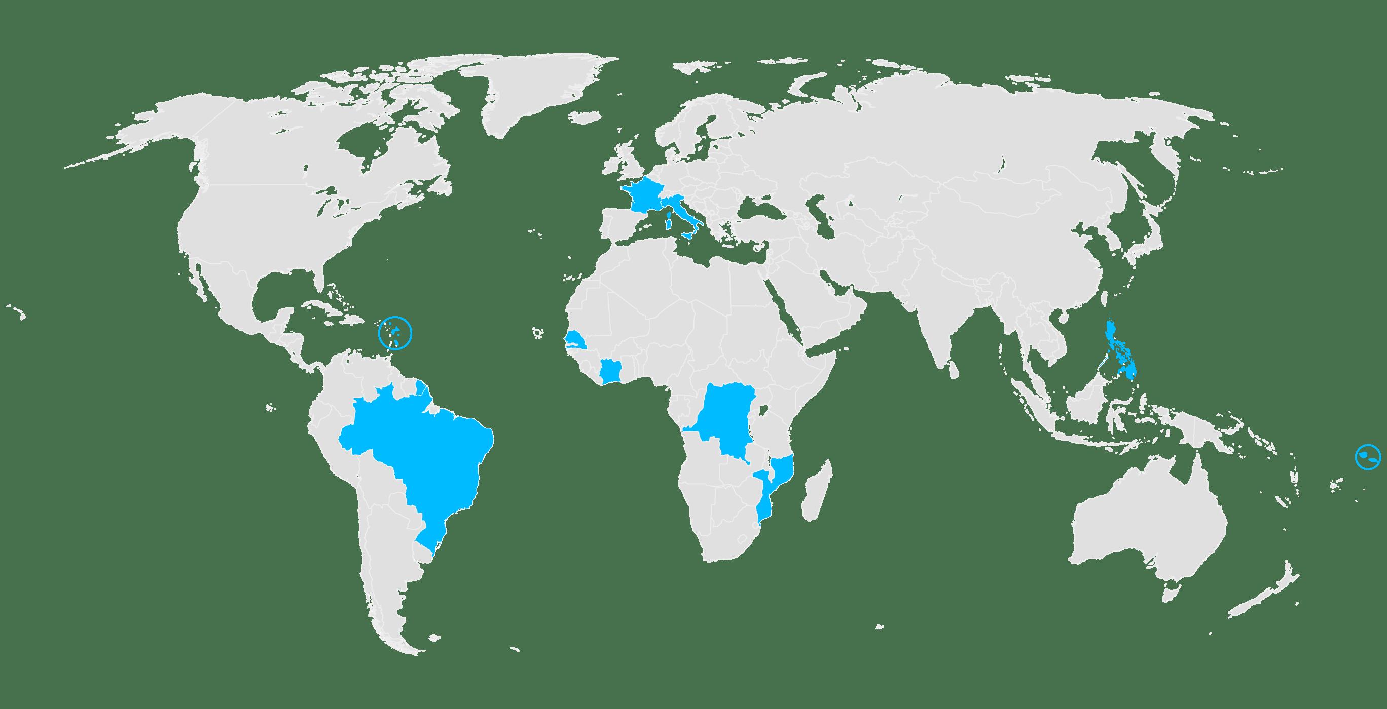 World map VAR